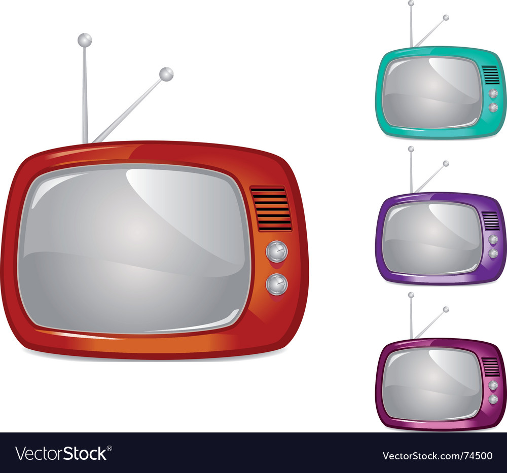 Retro television illustration global swatche vector | Price: 1 Credit (USD $1)