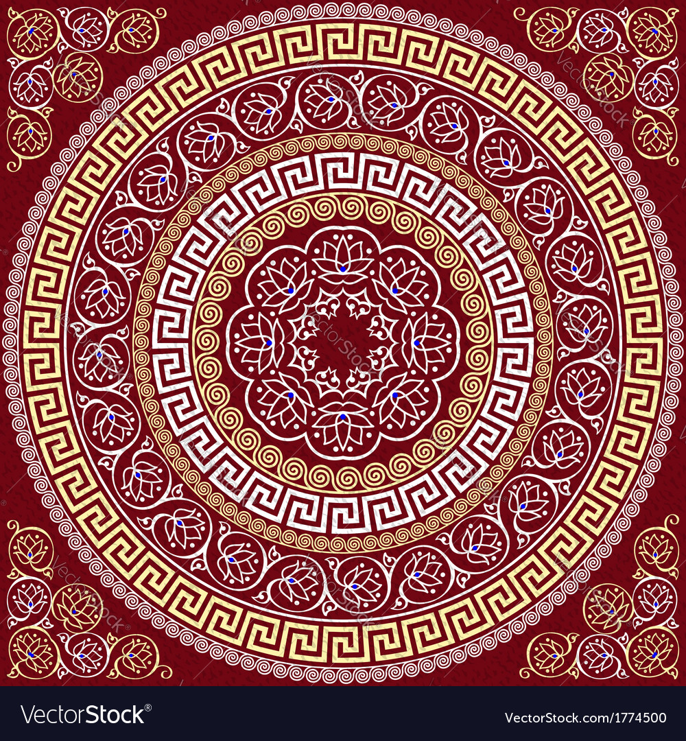 Round greek ornament meander vector | Price: 1 Credit (USD $1)