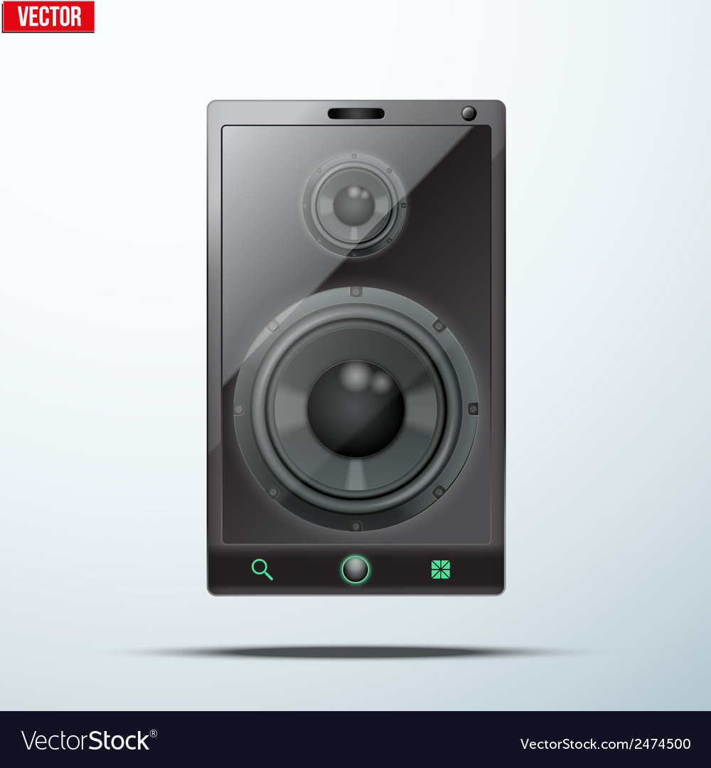 Sound load speakers dynamics inside a mobile phone vector | Price: 1 Credit (USD $1)