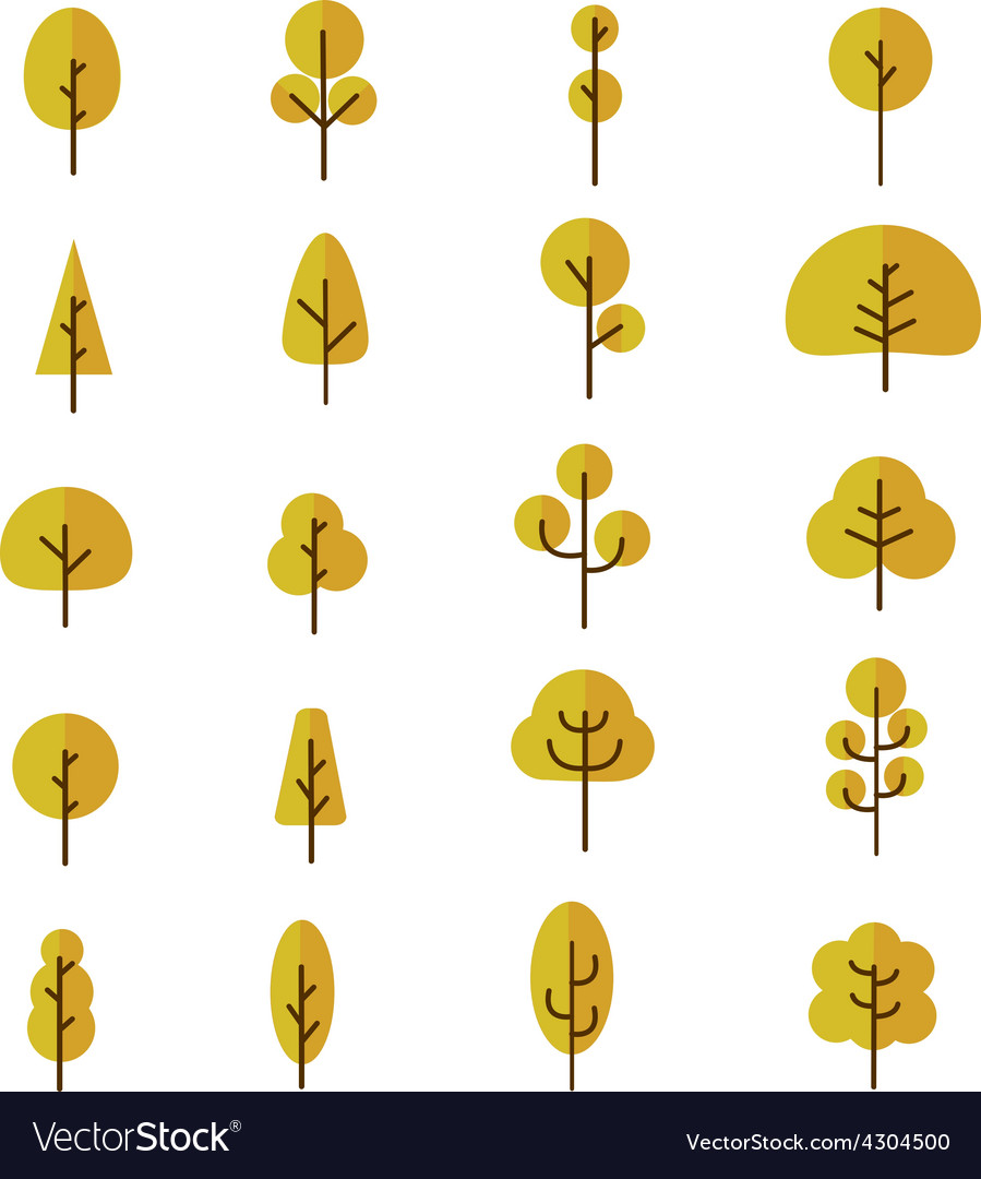 Tree collection 2 vector | Price: 1 Credit (USD $1)
