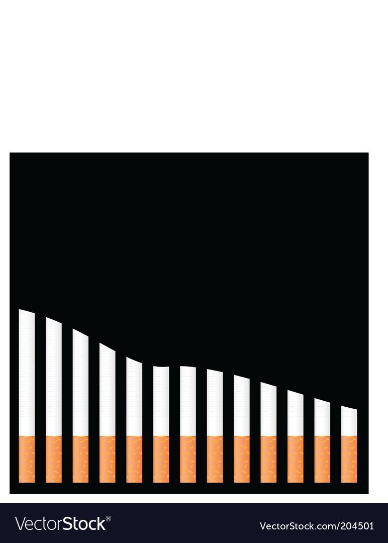 Cigarette graph vector | Price: 1 Credit (USD $1)
