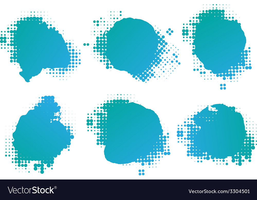 Collection of four ink splats vector | Price: 1 Credit (USD $1)