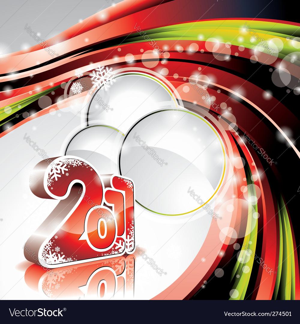 Happy new year 2011 design vector | Price: 1 Credit (USD $1)