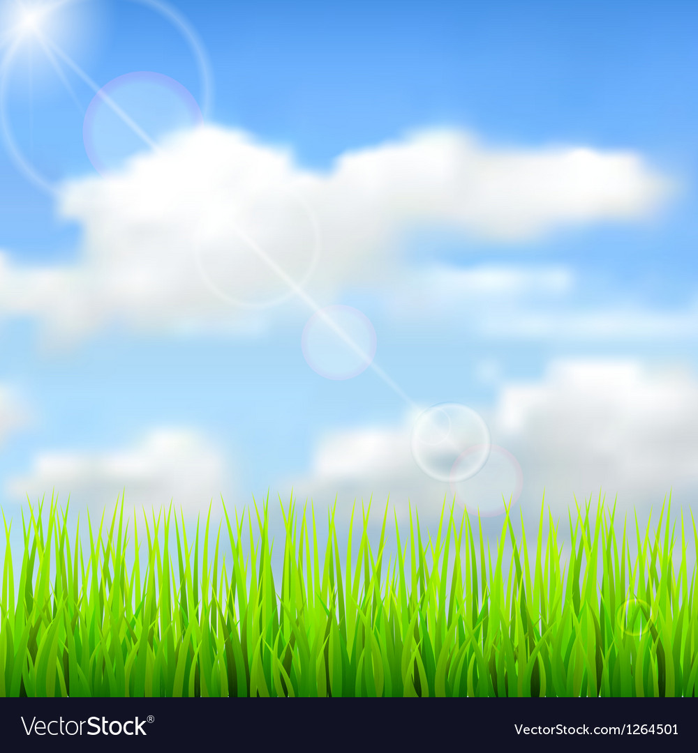 Nature spring background vector | Price: 1 Credit (USD $1)