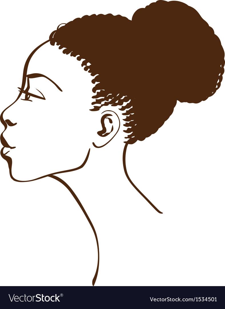 Portrait of beautiful woman profile vector   Price: 1 Credit (USD $1)