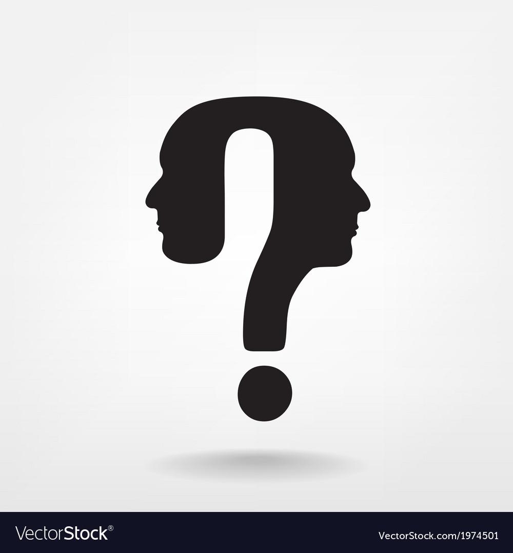 Question mark man head vector   Price: 1 Credit (USD $1)