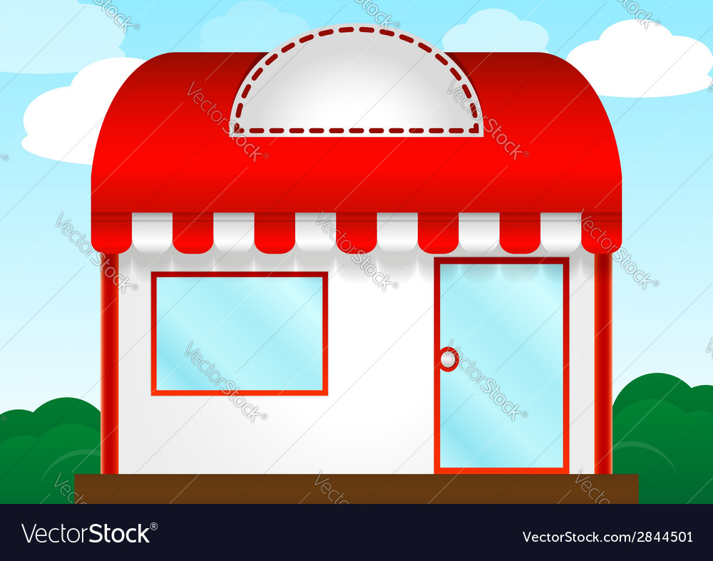 Red roof store vector | Price: 1 Credit (USD $1)