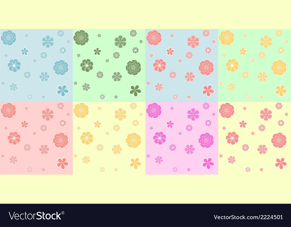 Set of colorful seamless pattern vector   Price: 1 Credit (USD $1)
