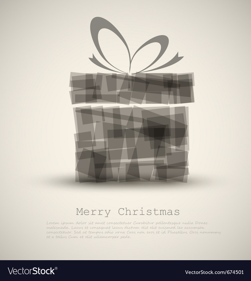 Simple christmas card vector | Price: 1 Credit (USD $1)