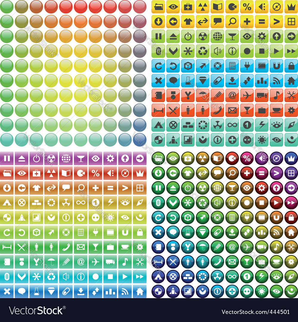 Web button set vector | Price: 1 Credit (USD $1)