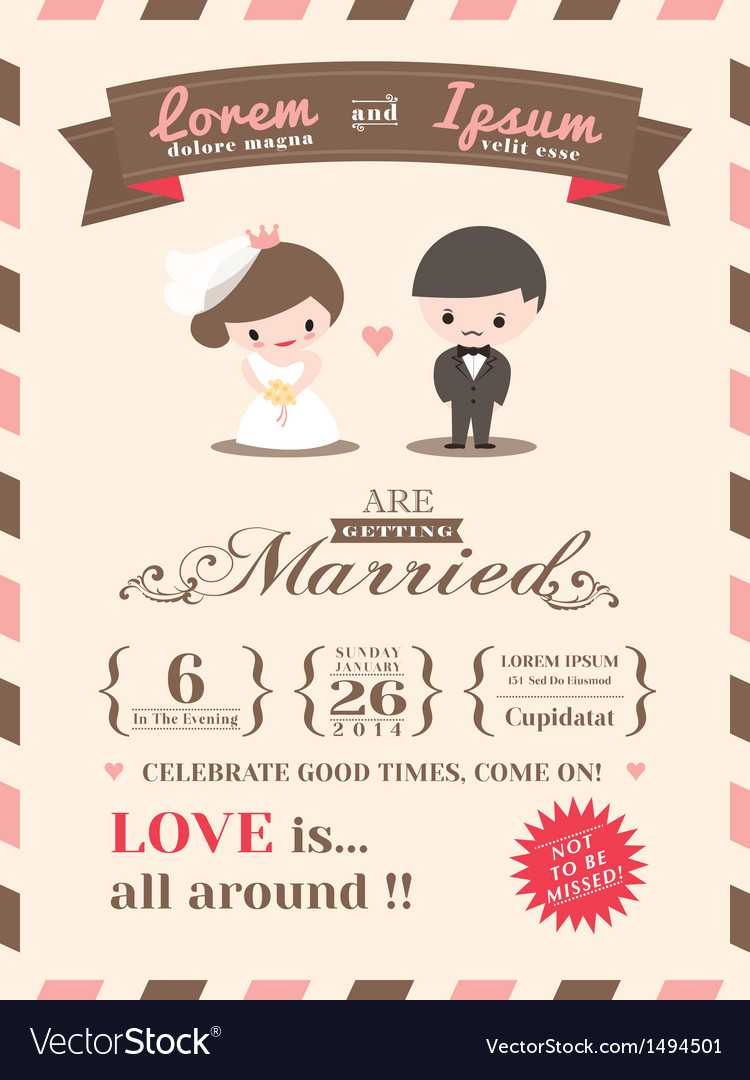Wedding invitation card template vector | Price: 3 Credit (USD $3)