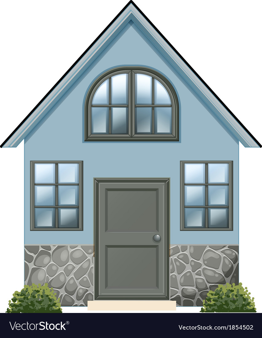 A simple single detached house vector | Price: 1 Credit (USD $1)