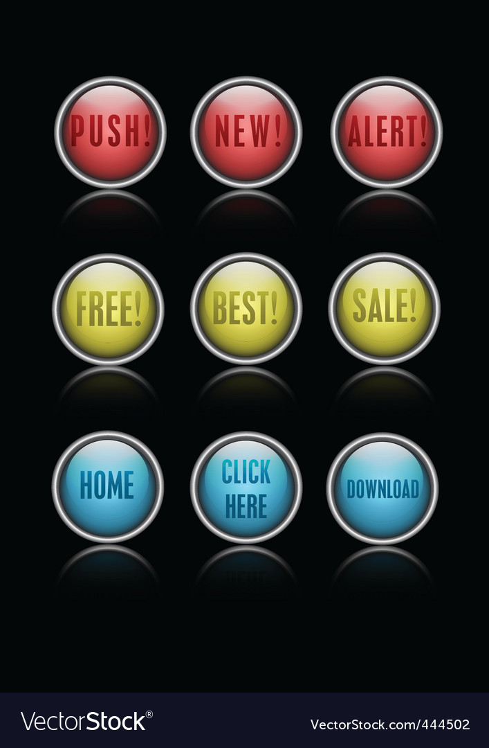 Action buttons vector | Price: 1 Credit (USD $1)