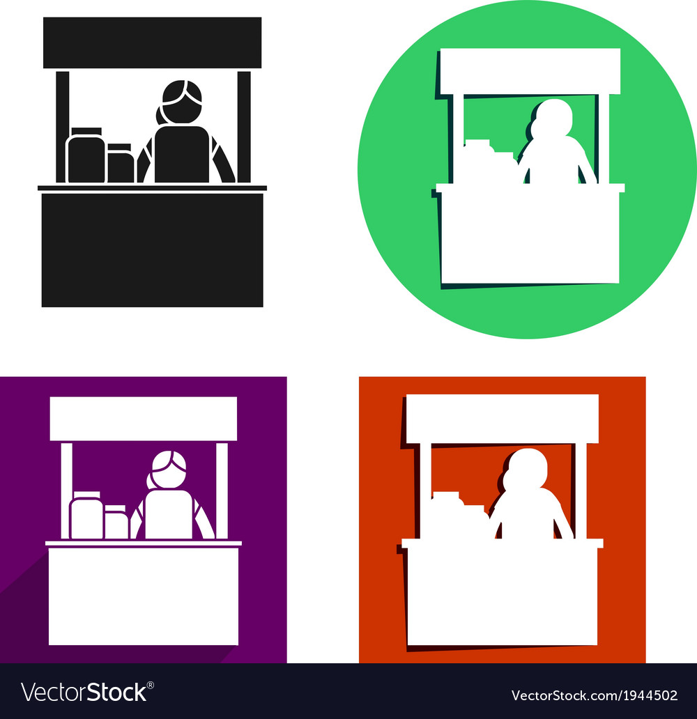Food kiosk icon vector | Price: 1 Credit (USD $1)