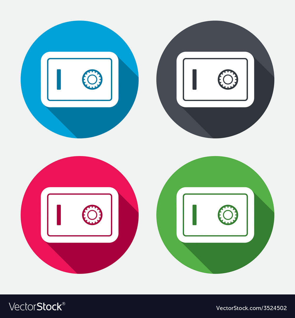 Safe sign icon deposit lock symbol vector | Price: 1 Credit (USD $1)