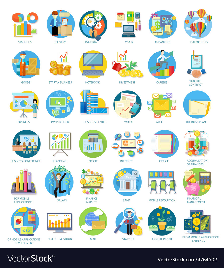 Set of busines icons vector | Price: 3 Credit (USD $3)