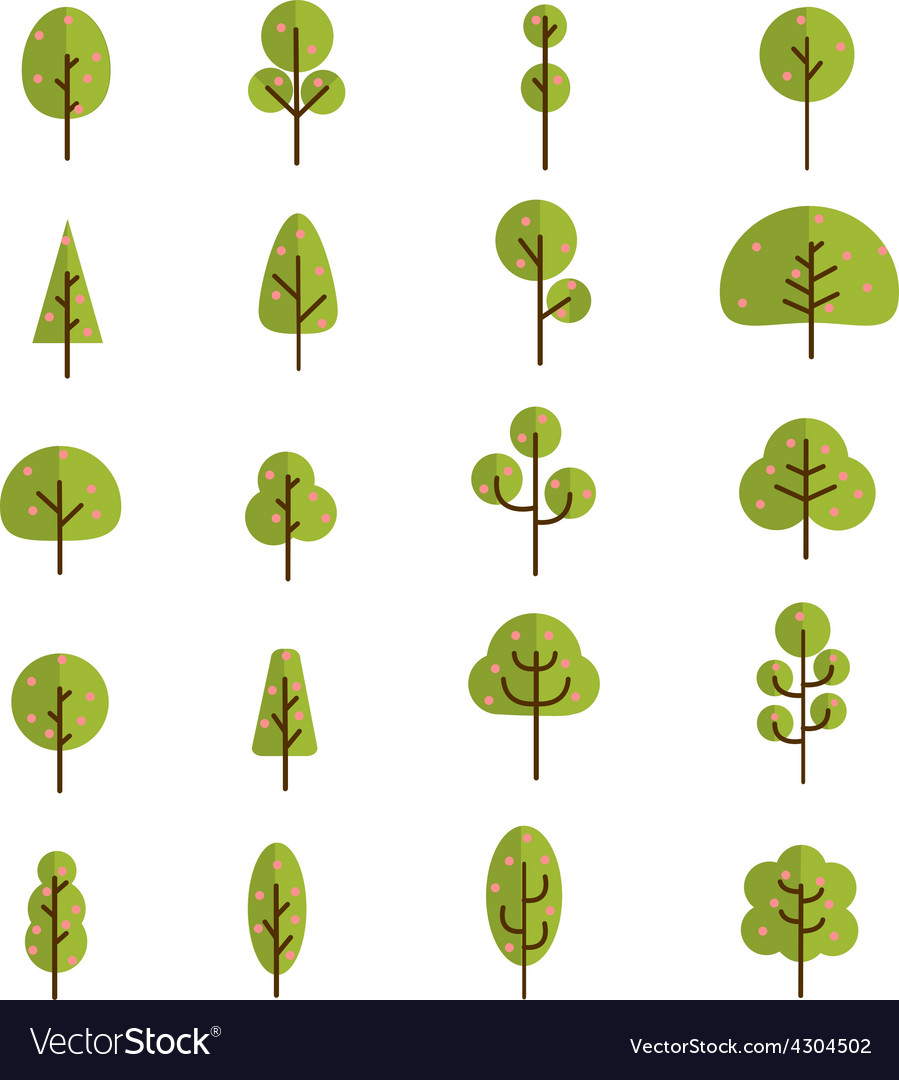 Tree collection 3 vector | Price: 1 Credit (USD $1)