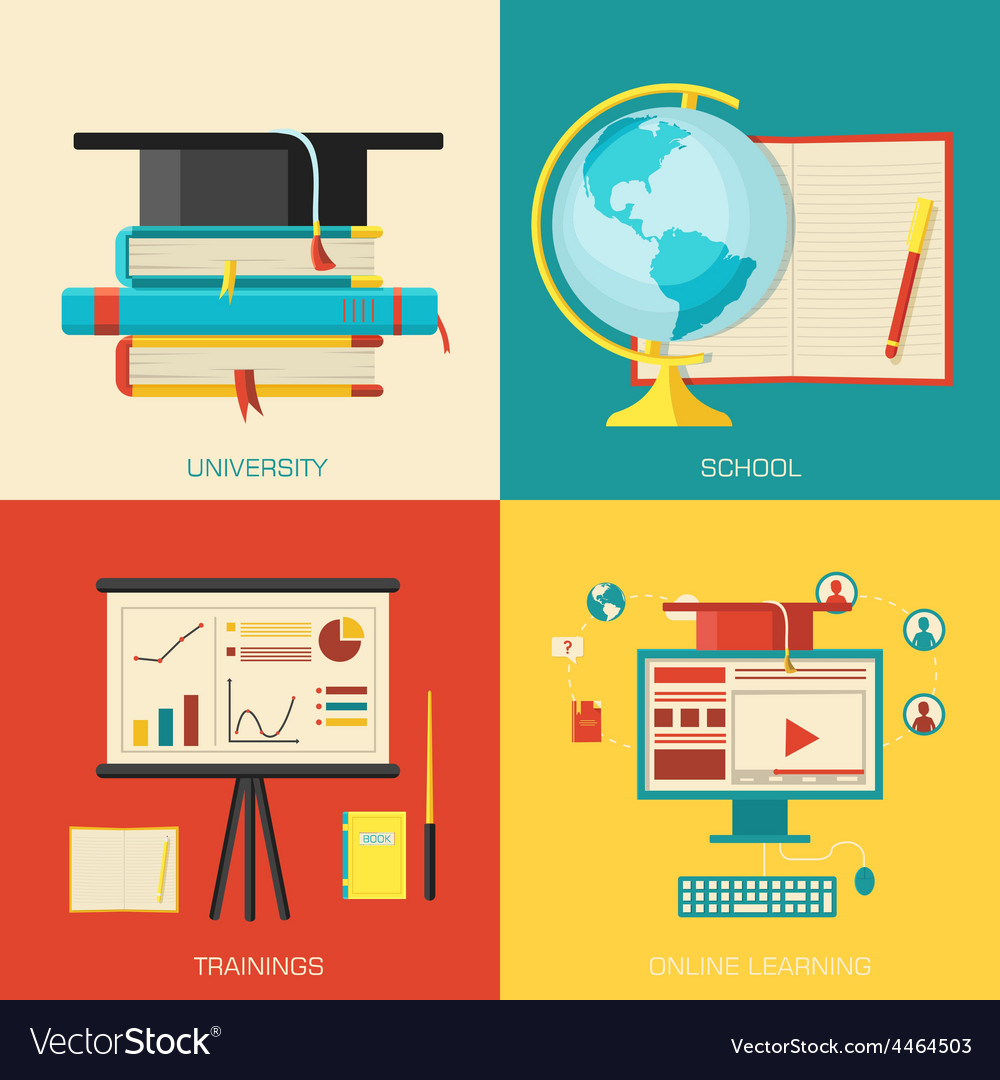 Education distance online and academic school vector | Price: 1 Credit (USD $1)