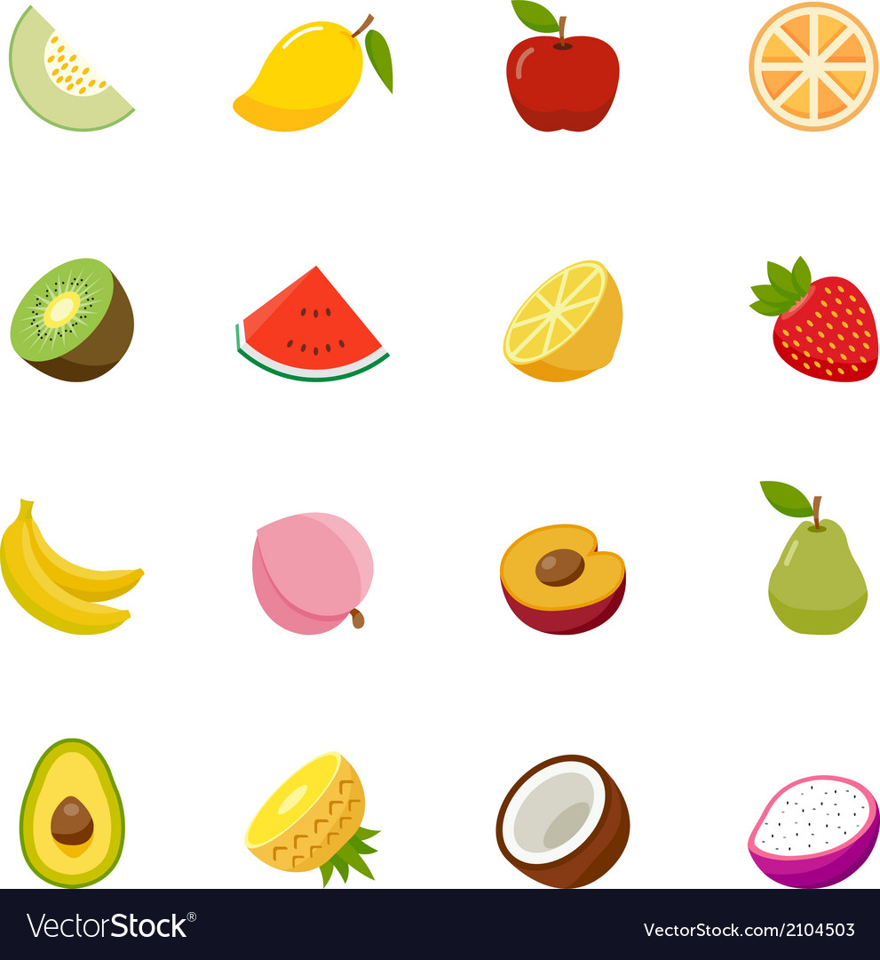 Fruit full color flat design icon vector | Price: 1 Credit (USD $1)