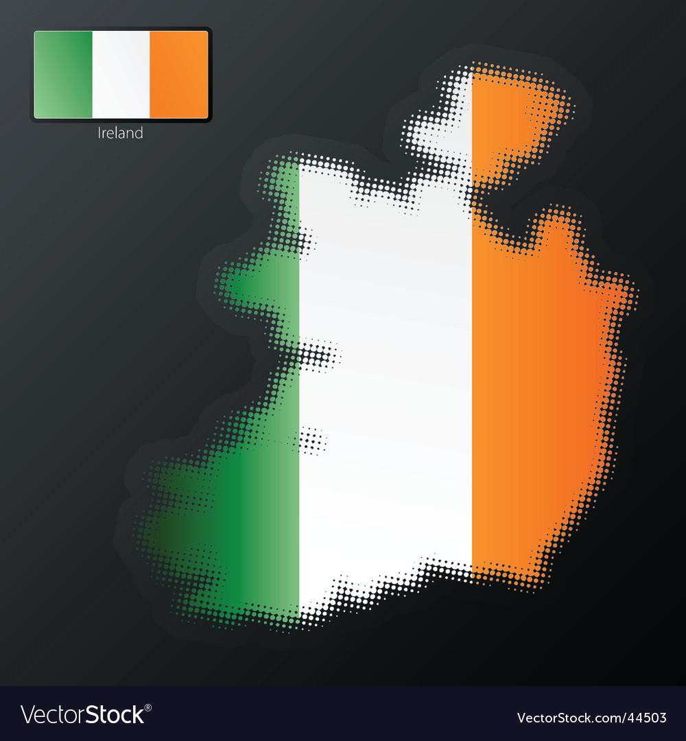 Ireland map vector | Price: 1 Credit (USD $1)