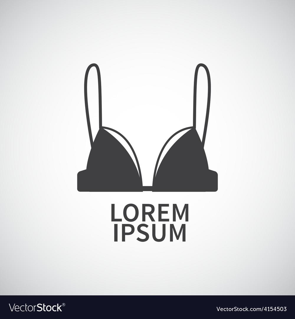Nursing bra icon design element vector | Price: 1 Credit (USD $1)