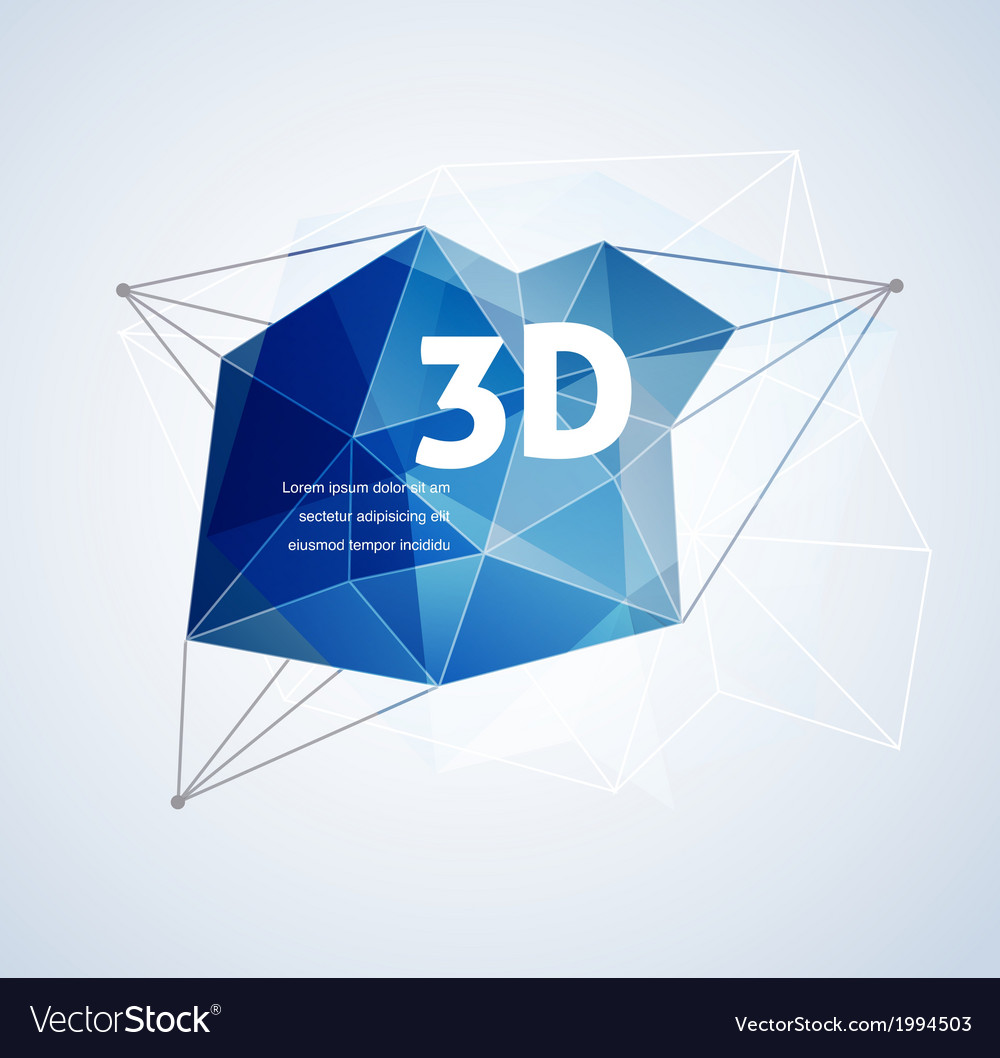 Polygonal geometric 3d printing background vector | Price: 1 Credit (USD $1)