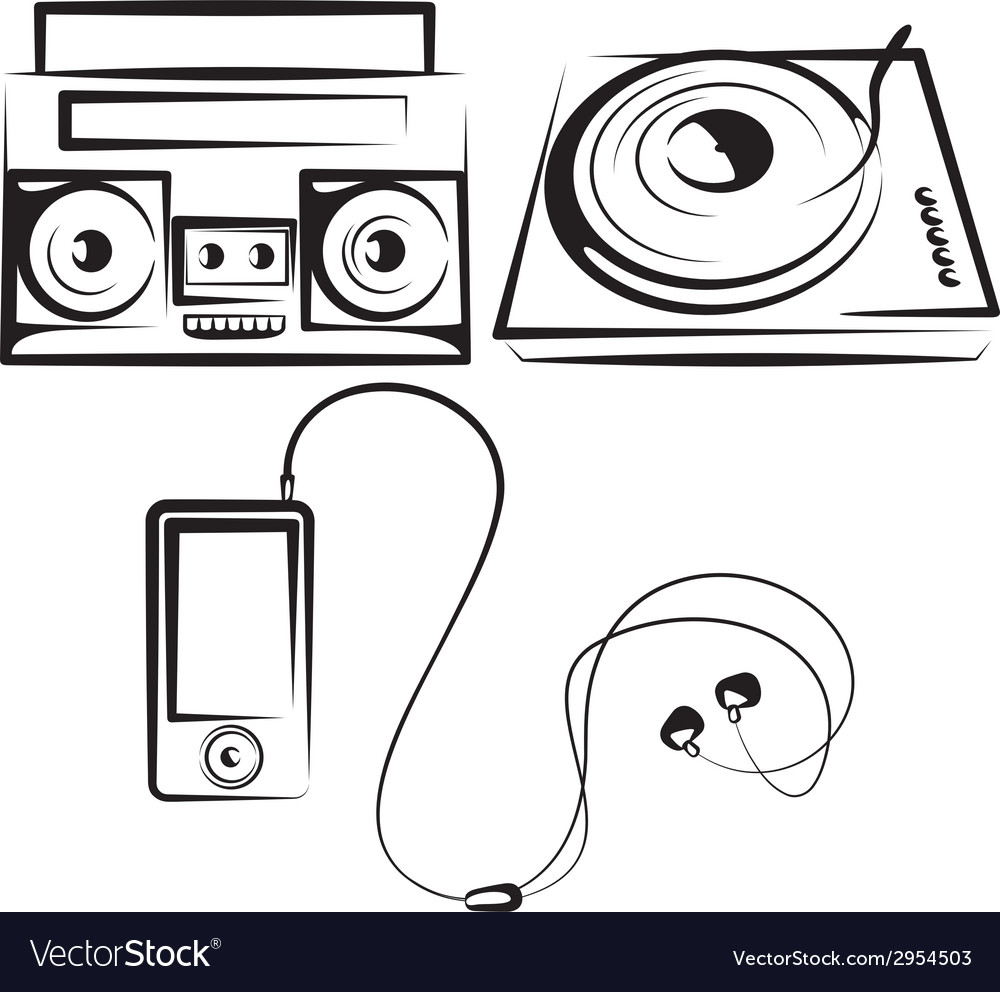 Set of music equipment vector | Price: 1 Credit (USD $1)