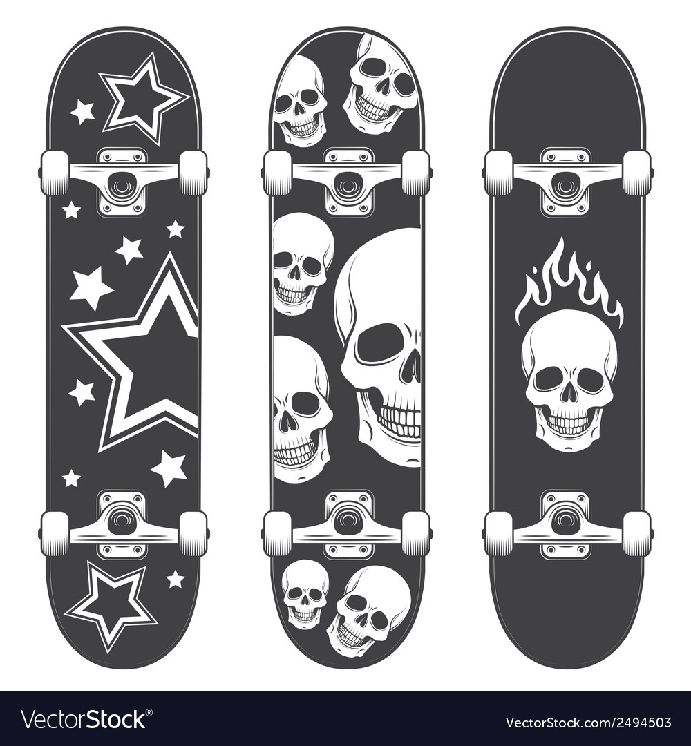 Skateboard print vector | Price: 1 Credit (USD $1)