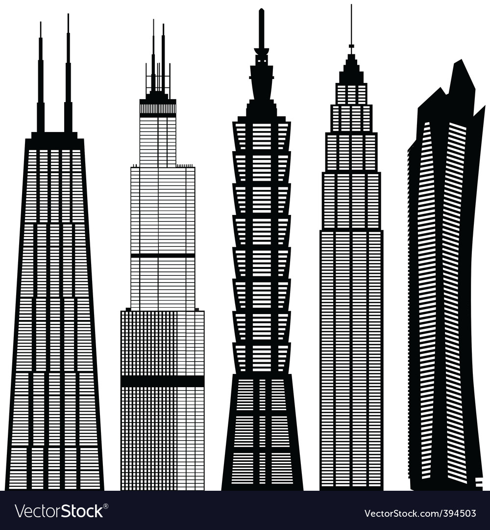 Skyscraper buildings vector | Price: 1 Credit (USD $1)