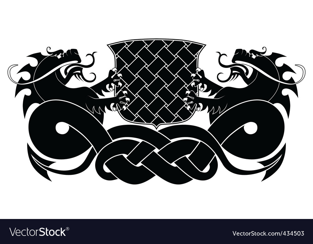 Two dragons vector | Price: 1 Credit (USD $1)
