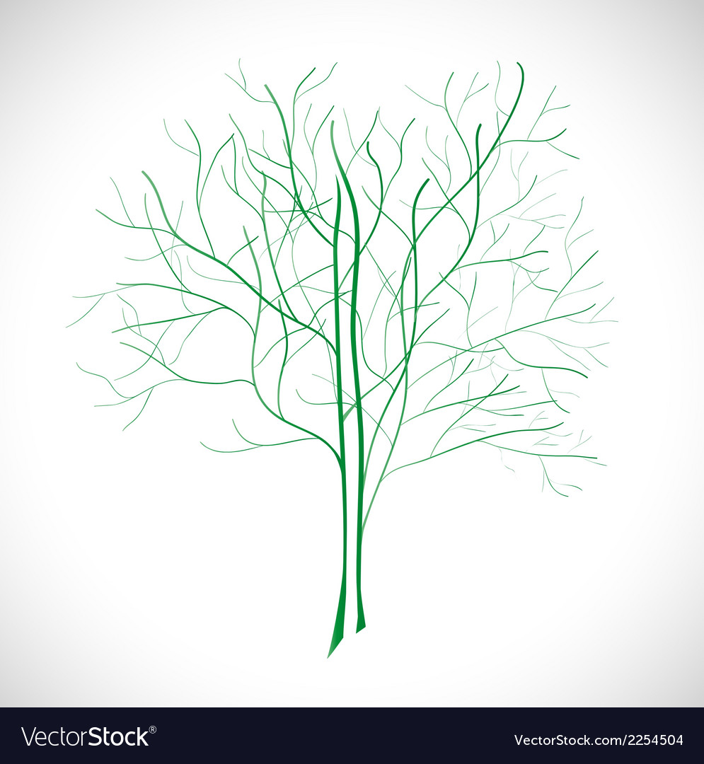 Abstract green tree vector | Price: 1 Credit (USD $1)