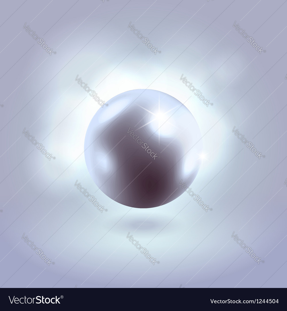 Blue glowing gorgeous pearl ball vector | Price: 1 Credit (USD $1)