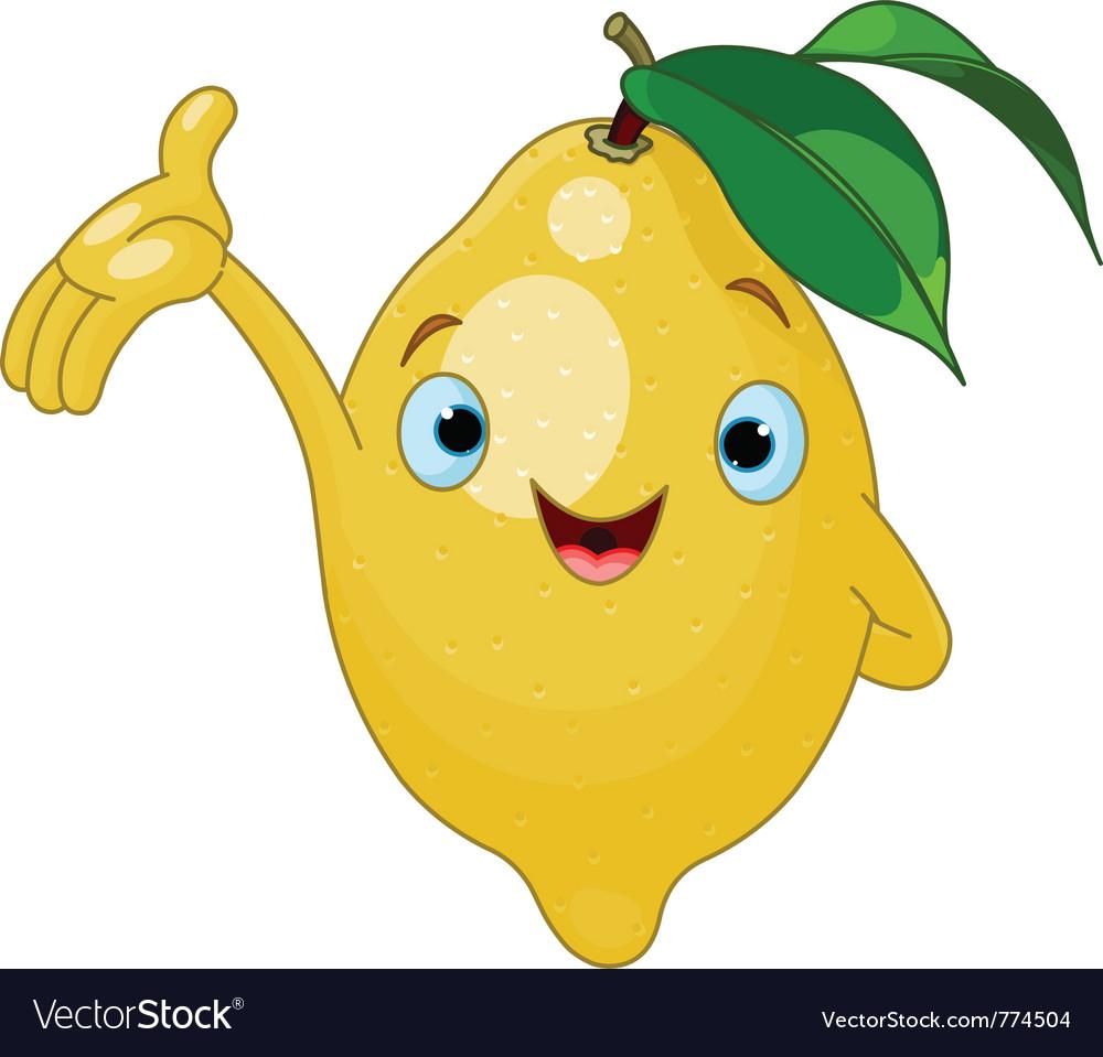 Cartoon lemon character vector | Price: 1 Credit (USD $1)