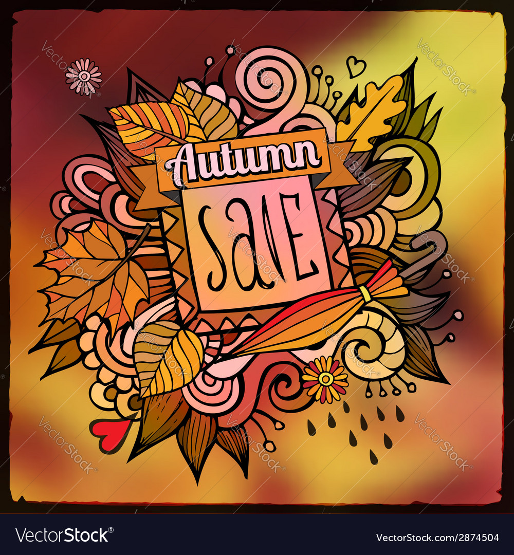 Decorative autumn sale blurred background vector | Price: 1 Credit (USD $1)