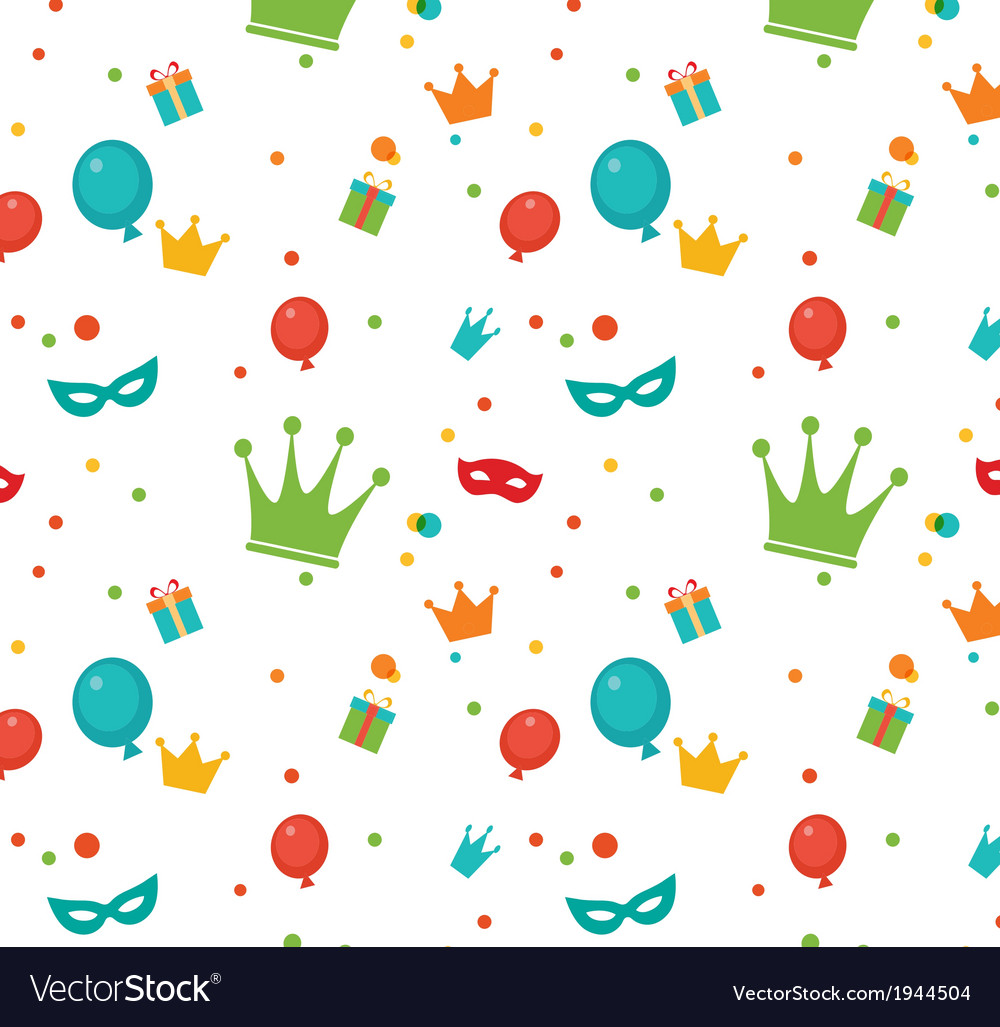 Jewish holiday purim pattern vector | Price: 1 Credit (USD $1)