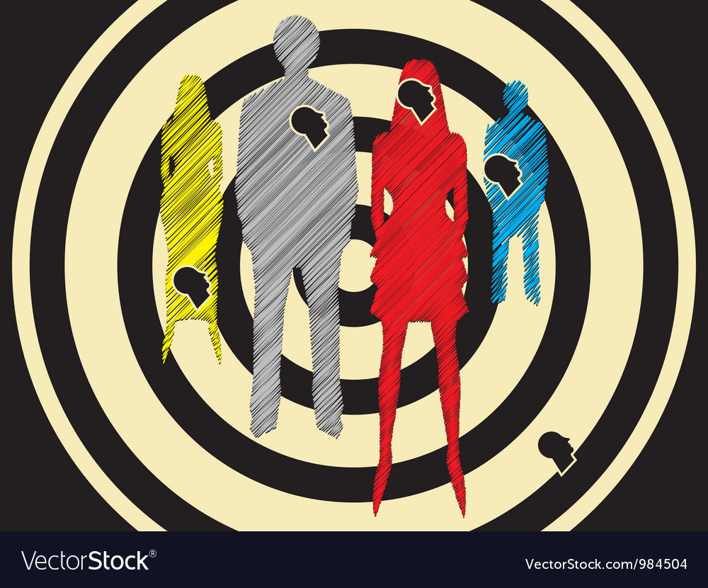 Social target group vector | Price: 1 Credit (USD $1)