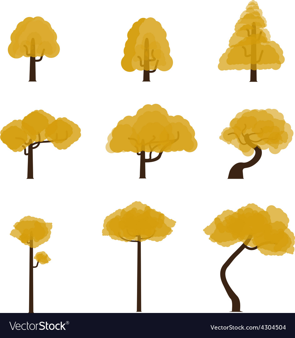 Tree collection 6 vector | Price: 1 Credit (USD $1)