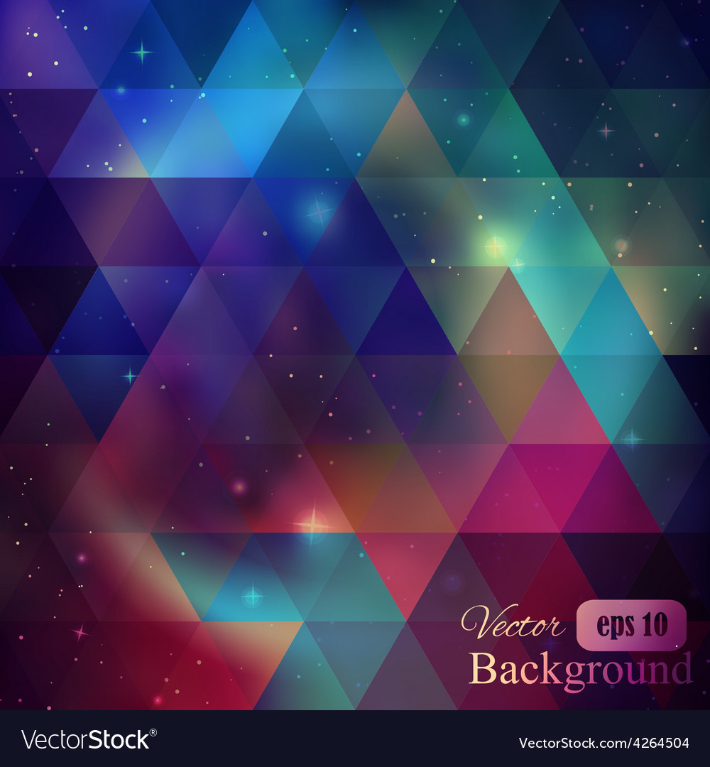 Triangle background with galaxy vector | Price: 1 Credit (USD $1)