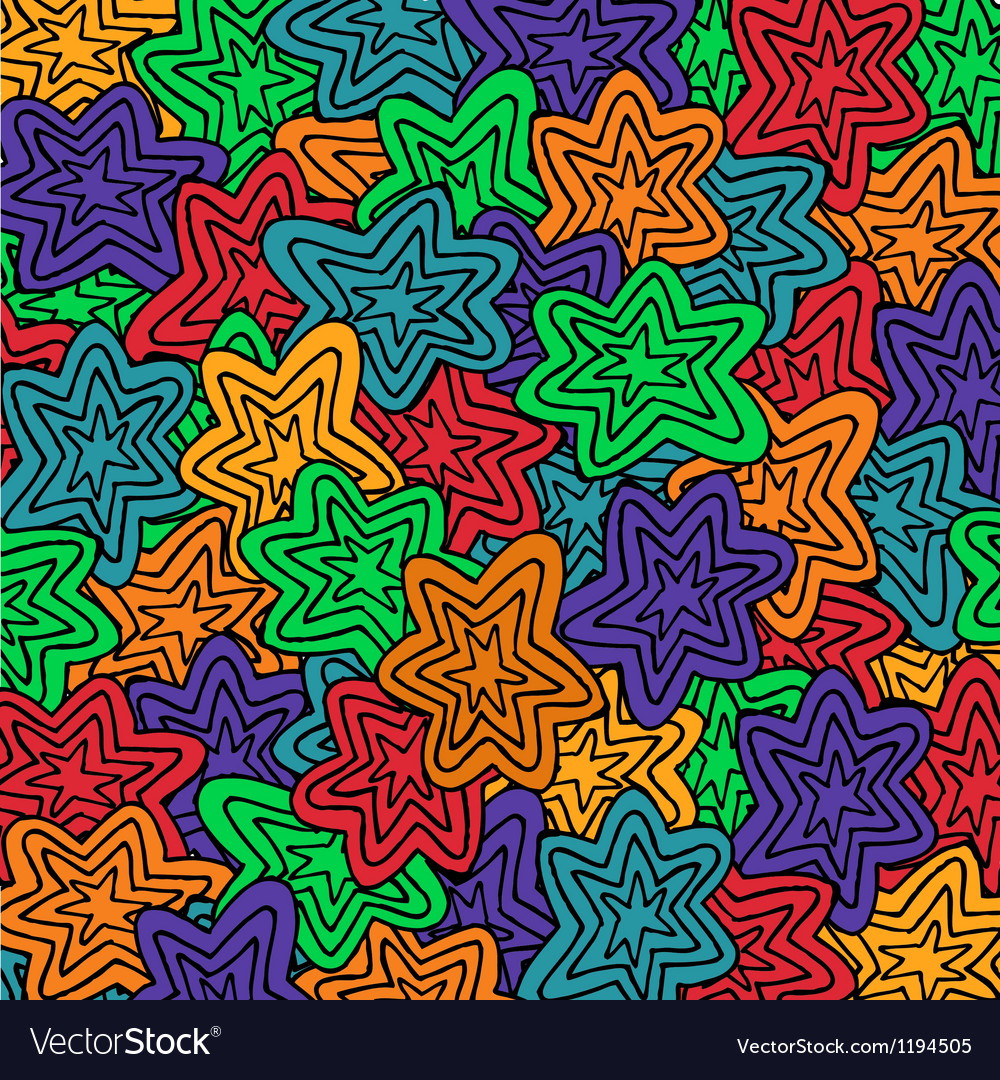 Bright abstract stars pattern vector | Price: 1 Credit (USD $1)