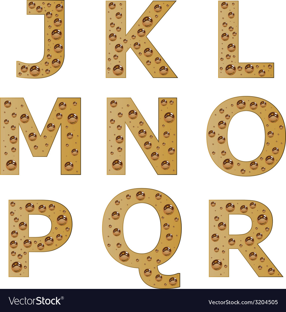 Bubble alphabet - part 2 vector | Price: 1 Credit (USD $1)
