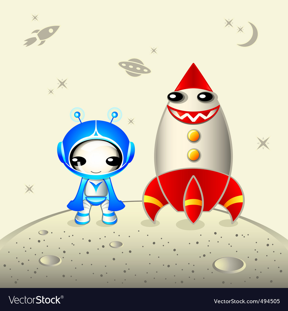 Kawaii astronaut vector | Price: 3 Credit (USD $3)