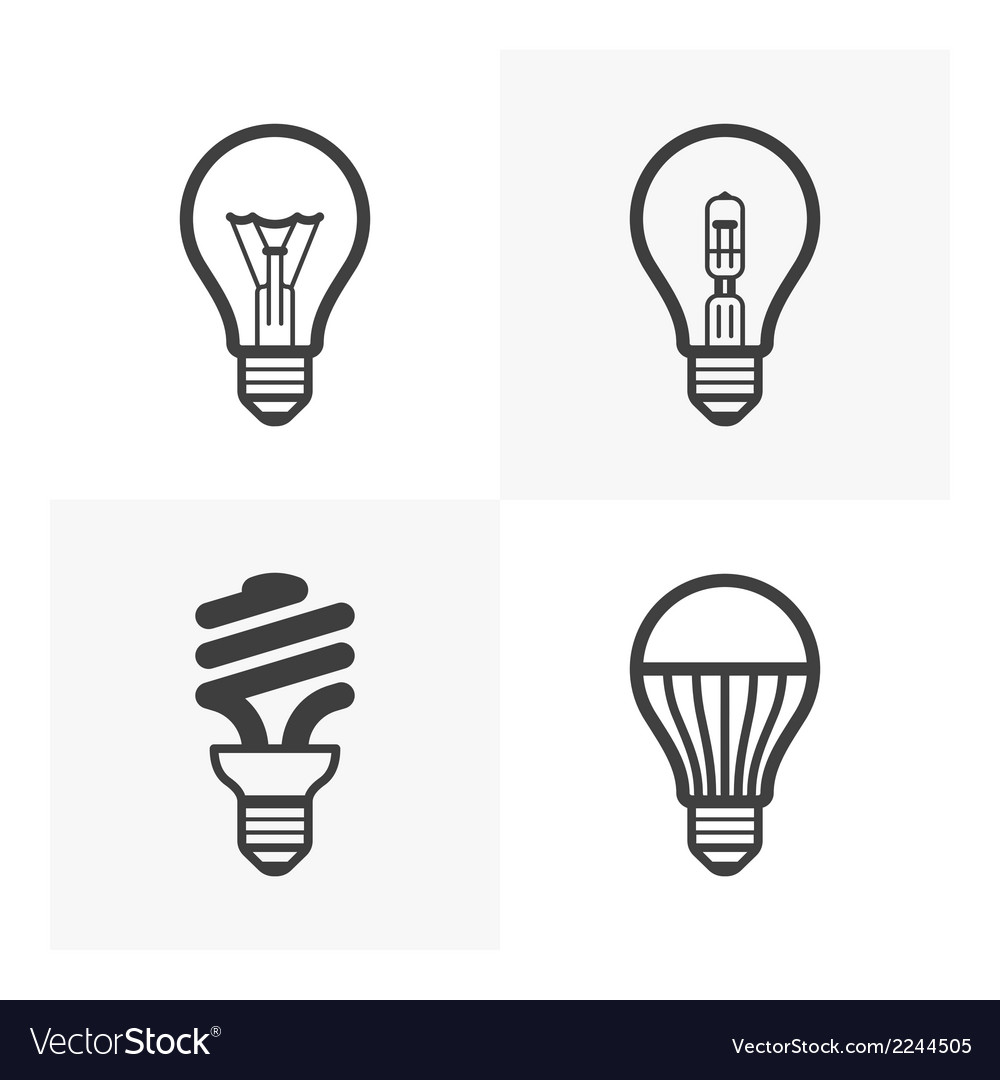 Light bulb icons vector | Price: 1 Credit (USD $1)