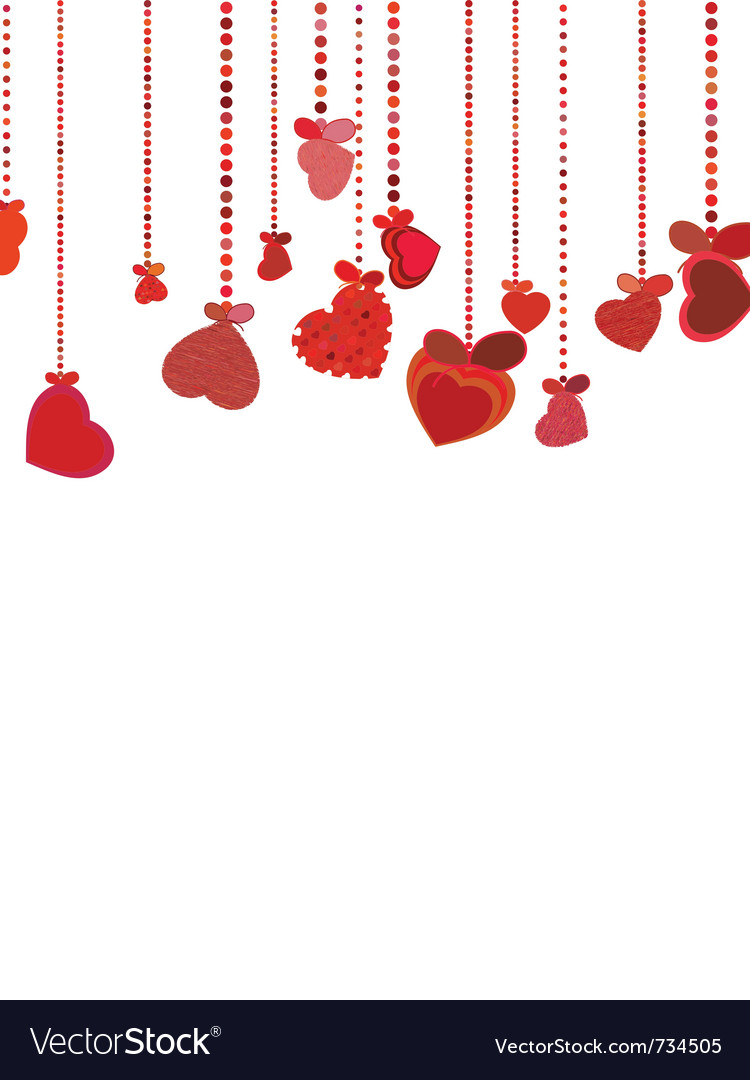 Valentines hearts background vector | Price: 1 Credit (USD $1)