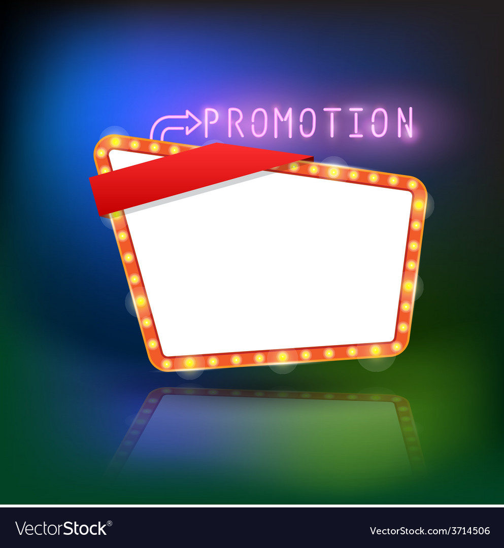 Abstract retro light promotion banner vector | Price: 1 Credit (USD $1)