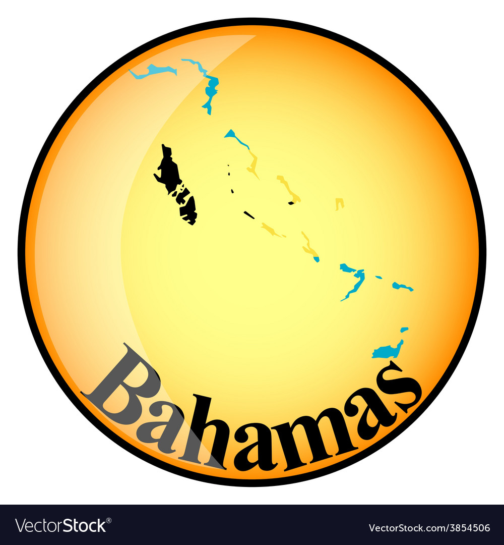 Button bahamas vector | Price: 1 Credit (USD $1)