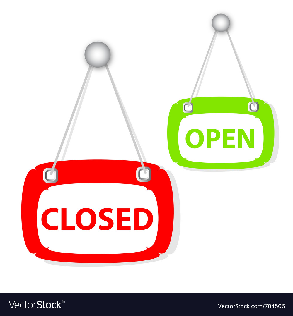 Closed open signboard vector | Price: 1 Credit (USD $1)