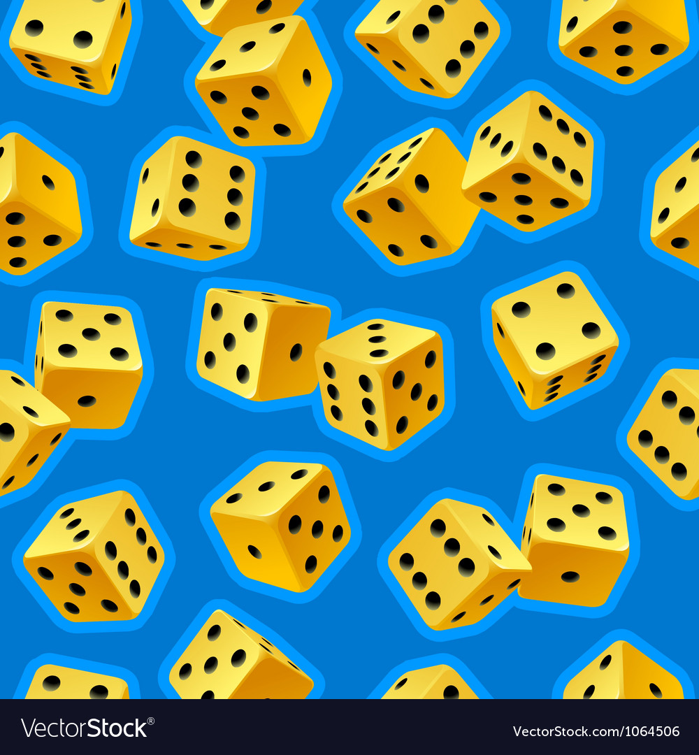 Dice seamless background vector | Price: 1 Credit (USD $1)