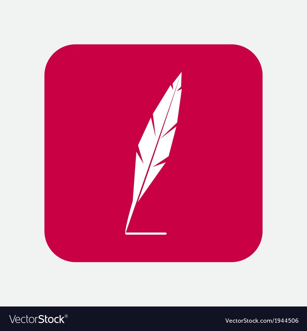 Feather icon vector | Price: 1 Credit (USD $1)