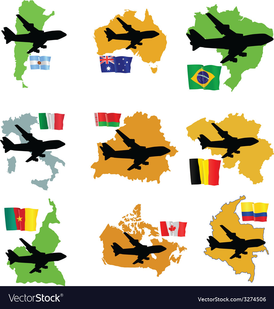 Fly me to the argentina brazil australia italy bel vector | Price: 1 Credit (USD $1)