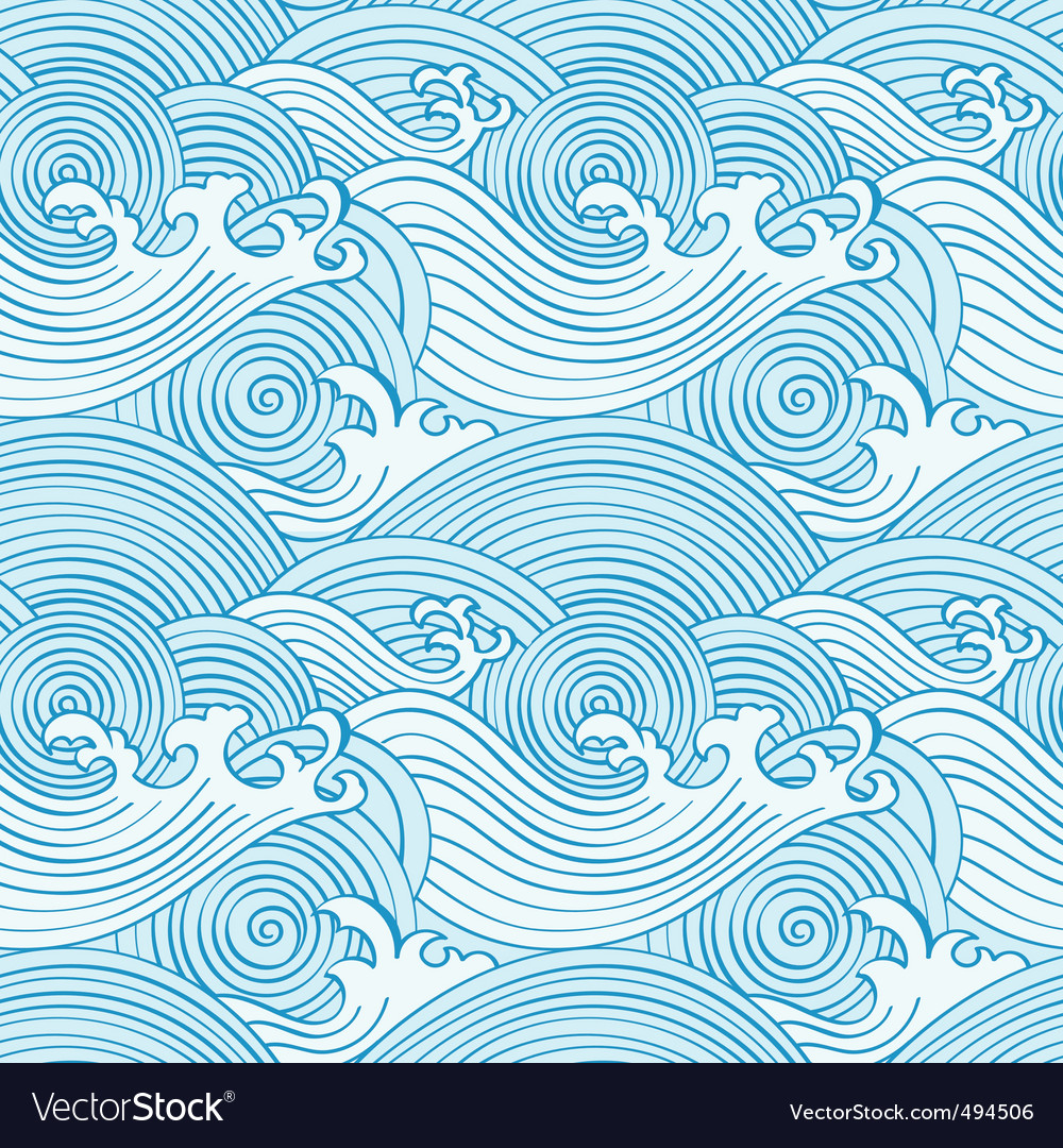 Japanese seamless waves vector | Price: 1 Credit (USD $1)